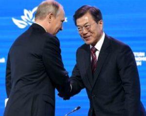 Мун Чжэ Ин и Путин